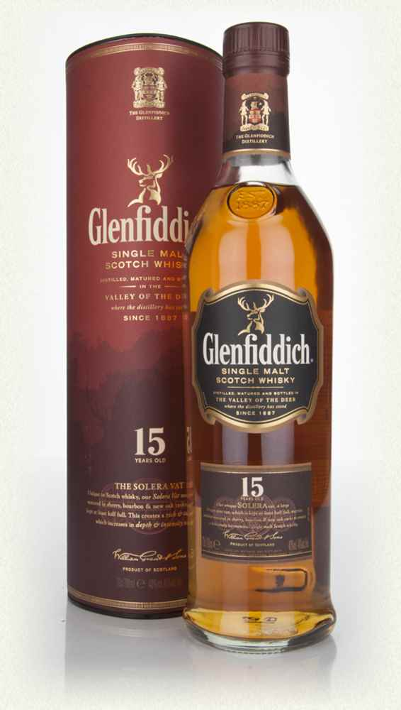 GLENFIDDICH 15 YEAR OLD SINGLE MALT SCOTCH WHISKEY .750
